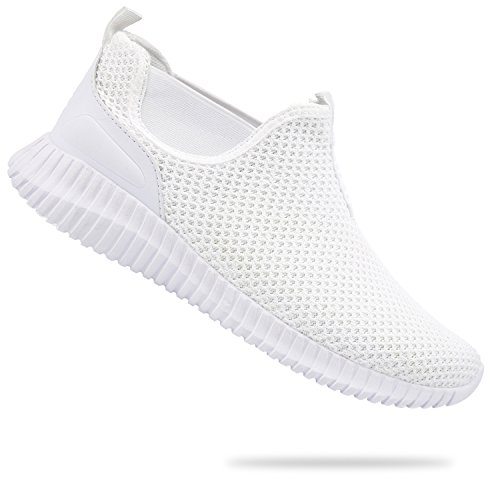 JINKUNL Mens Casual Shoes Knit Breathable Lightweight Walking Running Sneakers