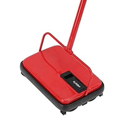 Eyliden. Carpet and Floor Sweeper with 4 Corner Edge Brushes for Tile Carpet 3 Color