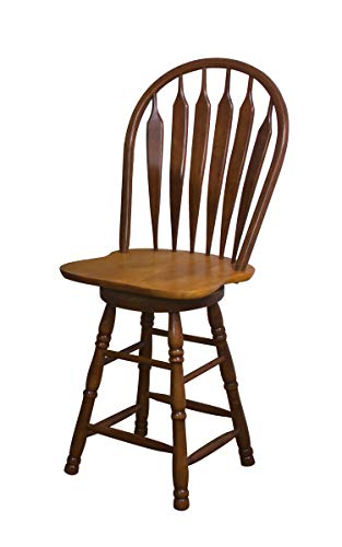Sunset Trading Swivel Barstool, 24 , Nutmeg Light Oak