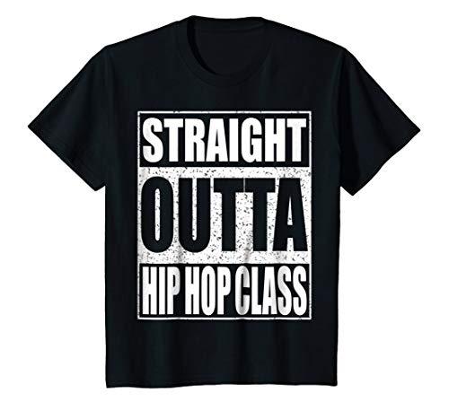 Kids Straight Outta Hip Hop Dance Class T-Shirt Dancer Gift Shirt 8 Black by Straight Outta Hip Hop Dance Class Shirts