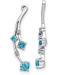 Emmy Co 925 Fashion Sterling Silver Minimaliste Push-Back Earring for women