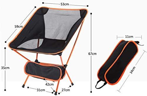 AGLZWY Folding Chair Multifunction Thicken Aluminum Tube Breathable Mesh Gauze Portable Outdoor Armchair Moon Chair, 4 Colors, 53X35X67cm (color : Orange, Size : 53X35X67cm)