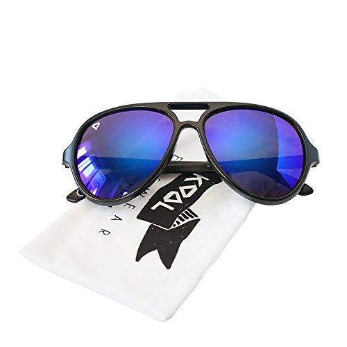 KOOL California - X Class Newport - Aviator Reflective Color Lens Style Sunglasses - - Class Man For Sun