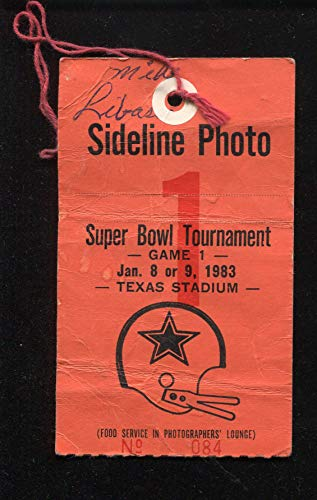 1983 Dallas Cowboys vs Tampa Bay Buccaneers NFL Sideline Photo Pass Ticket January 9 TEXAS STADIUM
