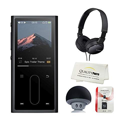 Quality photo FIIO M3K Portable High-Resolution Lossless Audio Player with Sony Stereo Headset, Portable Speaker, Micro SD. Bonus Microfiber Cloth ...