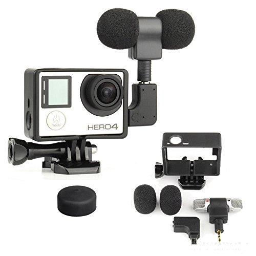 2 opinioni per micros2U, microfono GoPro microfono con kit di montaggio con supporto protettivo