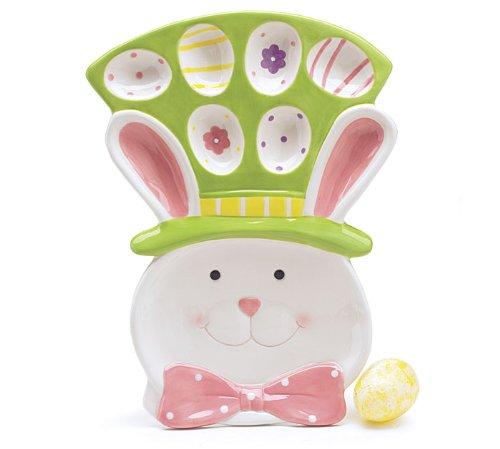 - Burton & Burton Garden Easter Bunny Dip/Egg Plate