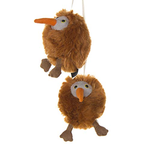 2 Pack of Brown  kiwi  Crib Mobile Attachments | Hanging Plush Animal Decorations for Baby Girl or Boy Playpen or Crib | Accessories for Use with Mobile Hanger Sold Separately