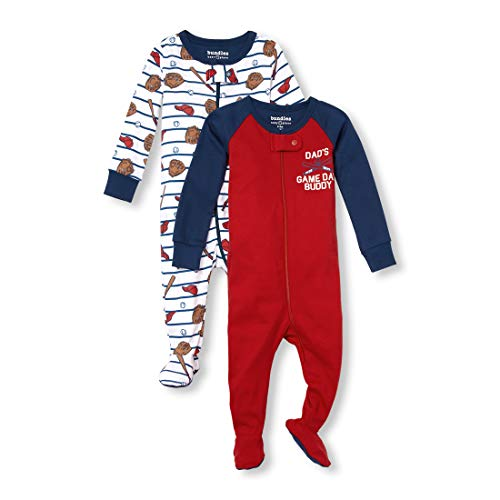 (The Children's Place Baby Boys 3 Pack Novelty Printed Long Sleeve Footed Sleepers, Multi CLR, 18-24MONTH)