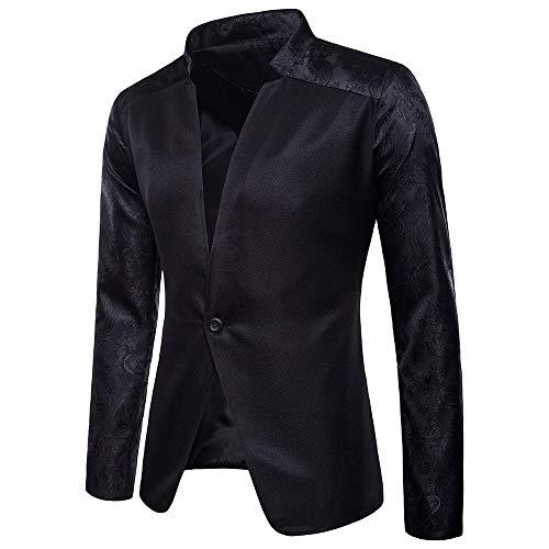 Madras Coat Sport (2018 Wintialy Fashion Charm Men's Casual One Button Fit Suit Blazer Coat Jacket Top Black)