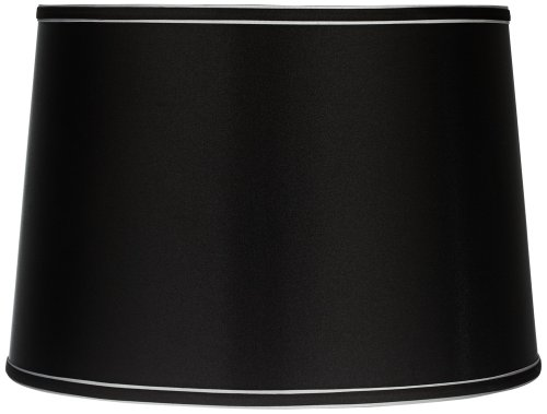 Shade Brentwood Collection - Sydnee Collection Satin Black Drum Shade 14x16x11 (Spider)