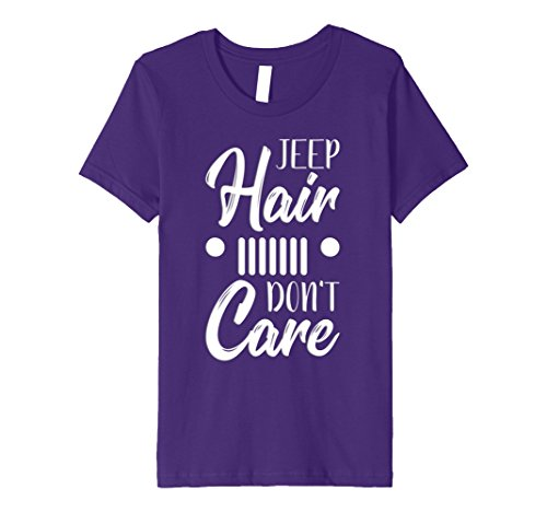 Price comparison product image Kids Jeep Hair Don't Care Fun Jeep Love Messy Hair T-Shirts 4 Purple