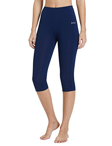 "BALEAF Women's 16""/23"" High Waisted Yoga Capris Power Flex Workout Leggings Inner Pocketed(XS-2X) from BALEAF"