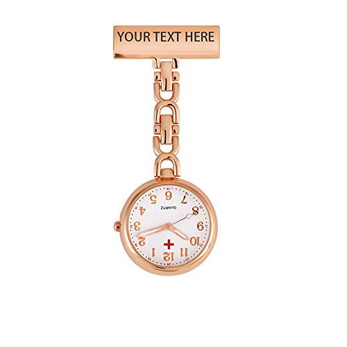 Nurses Fob Watch - Personalised Engraved Nurse Watch Vintage Retro Creative Brooches Portable Medical Doctor Nurse Watch