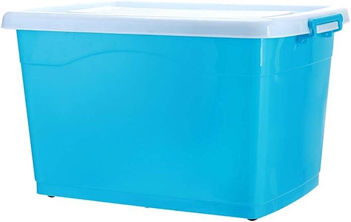 Caja de plástico sellada Caja de almacenamiento de plástico grande, transparente, moderna y moderna, adecuada para el hogar, escuela, niño, juguete, ropa, ropa interior, cajas apilables-B-40L: Amazon.es: Hogar