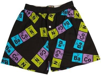 Fun Boxers Mens Periodic Table of Bacon Boxer Shorts