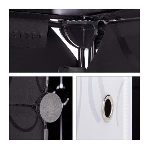 36.5 x 94 x 90 cm Sistema a Incastro HxLxP 90 x 94 x 37 cm ca Plastica Black 10 Scomparti Relaxdays 10021978/_46 Armadio Scarpiera Nero