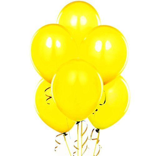 "12"" Standard Yellow Latex Balloons, 100 Count"