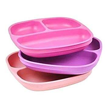 re play divided plates for babies and toddlers set