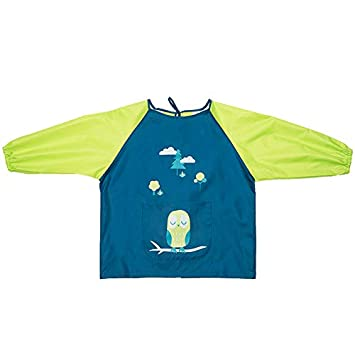 Reusable Painting and Kitchen Apron Children: S, Blue HOSIM Kids Painting Apron for Girls and Boys Children/'s Colorful Art Craft Smock with Long Sleeves Large Pocket