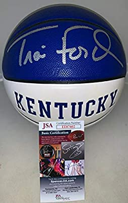 Travis Ford Autographed Signed Kentucky Wildcats F/S Full Size Logo Basketball Ball Uk JSA