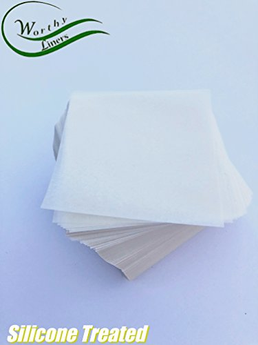 Worthy Liners Silicone Treated Parchment Paper Squares 1000 Pieces (4x4)
