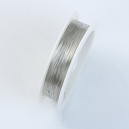 Silver Color Wire 30 Gauge,Thickness 0.25MM ()