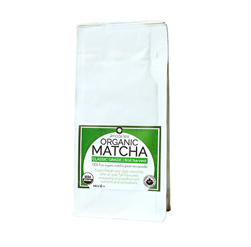 MATCHA - MATCHA TEA - MATCHA GREEN TEA POWDER - MATCHA POWDER - ORGANIC MATCHA Classic Grade by Amoda - For Matcha Smoothie, Matcha Latte - Vegan, Paleo, Sugar-free, Gluten-free, Matcha Powder 4oz