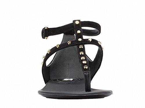 Balenciaga Mujer 422778WAUR01000 Negro Gamuza Sandalias