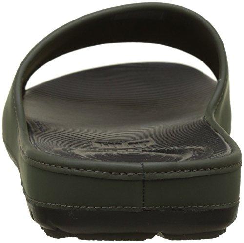 Neoprene Lido Slide Aperta Fitflop Verde Sandali Sandals in Mimetico Punta Uomo wqA11PCIx7