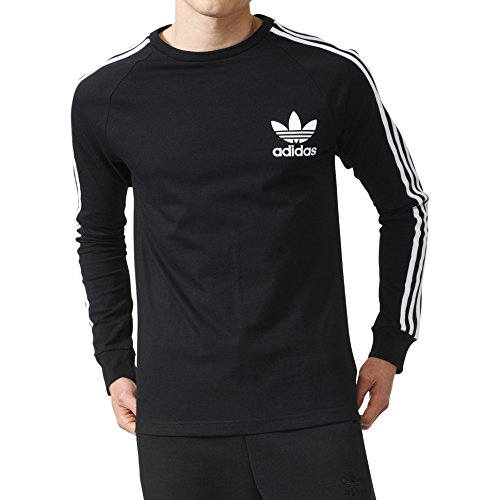 adidas Originals Men's Tops | California Long Sleeve Tee, Black, - Long Shirt Sleeve Adidas