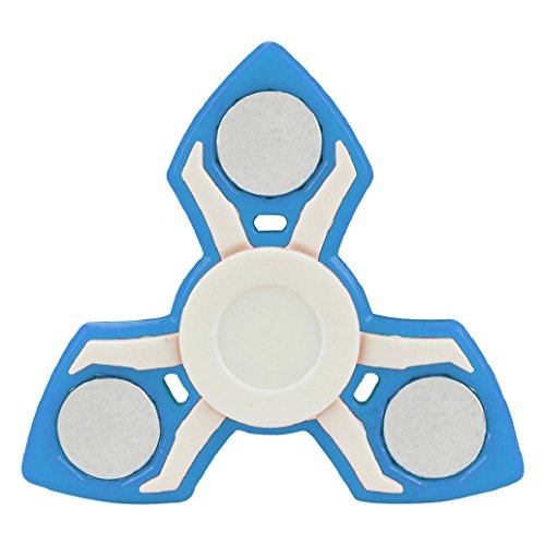 Hot Sale! AMA(TM) Tri Fidget Hand Spinner Triangle Fingertip Bearing Toy EDC Focus Decompression Gyro (Big Bad Wolf Makeup)