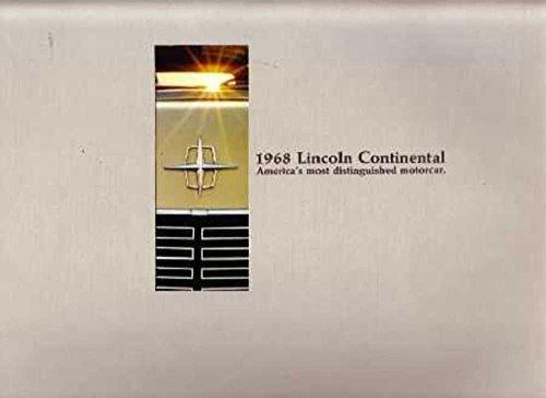 1968 Lincoln Continental Sales Brochure Literature Piece Advertisement Options