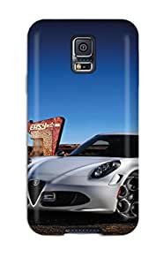 Durable Defender Case For Galaxy S5 Tpu Cover(alfa Romeo 4c 23)
