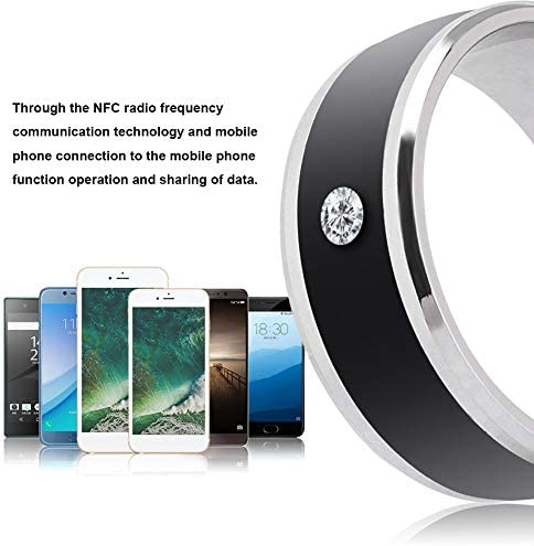 6in NFC Multi-Function Smart Rings Magic Wearable Device Universal for Mobile Phone Connecte to The Mobile Phone Function Operation and Sharing of Data 41Qcub9JCbL