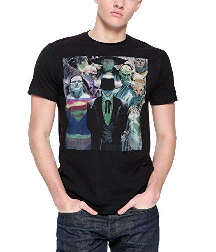 Justice League Alex Ross Villains T-Shirt-Large Black
