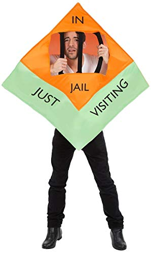 Unisex In Jail Monopoly Board Game Just Visiting Halloween -