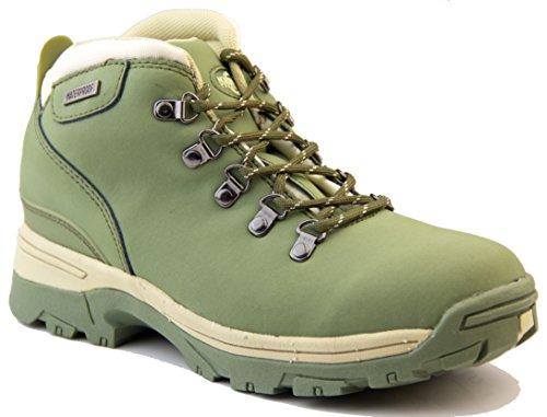 Footwear Studio - Botas de senderismo para mujer Verde oliva
