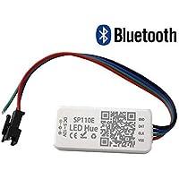 VIPMOON DC 5-24V SP110E Controlador Bluetooth, Controlador