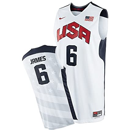 finest selection 35e62 bca8b Amazon.com : LeBron James #6 2012 Olympics Replica Jersey ...