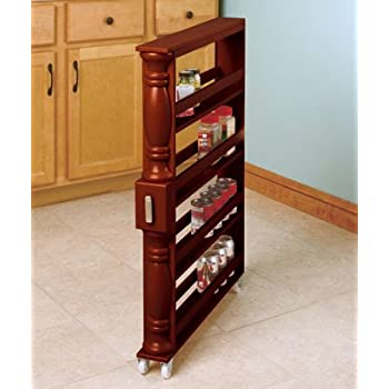 Amazon Com Slim Can And Spice Racks Natural Kitchen