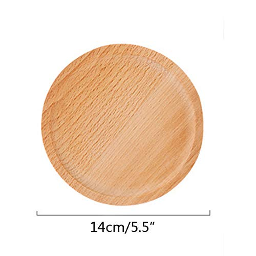 VT BigHome Japanese Style wood Round Plate Healthy