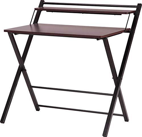 InnoFur Meleti Folding Table/Multi Purpose/Study Table/Adjustable Portable Laptop Table with Bookshelf, Cup Holder…