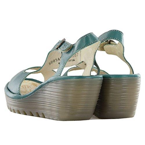 Fly London Yanca Grønne Kvinners Sandaler Størrelse 39 Eu