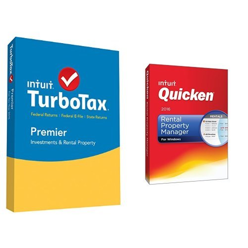 TurboTax Premier 2015 Federal + State Taxes + Fed Efile Tax Preparation Software PC/Mac Disc with Quicken Rental Property Manager 2016 PC Disc (Download 2015 For Quicken Mac)