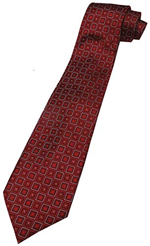 Donald Trump Signature Collection Neck Tie Red, Black and Silver with Gold Emblem - Signature Trump Collection