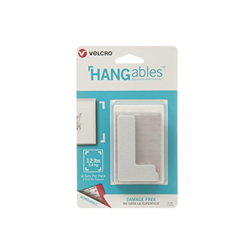 VELCRO Brand - HANGables - Removable Wall Fasteners, Corners - 8 ct