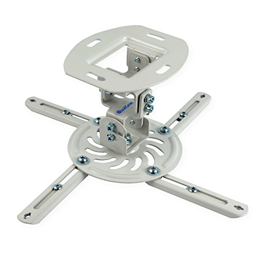 QualGear QG-PM-002-WHT-S Projector Ceiling Mount Accessory Arm Lcd Projector Cart
