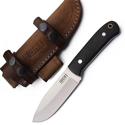 GCS Custom Handmade Black Micarta Handle Machete Bowie D2 Tool Steel Dagger Skinner Bushcraft Knife Knives Bowie Buffalo Hide Sheath 161