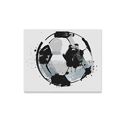 YIJIEVE Wall Art Painting Black Grunge Soccer Ball On Prints On Canvas The Picture Landscape Pictures Oil for Home Modern Decoration Print Decor for Living Room
